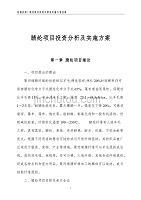 腈纶项目投资分析及实施方案