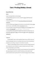 全新版大学进阶英语综合教程第三册第一单元参考答案