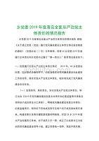 乡党委2019年度落实全面从严治党主体责任的情况报告