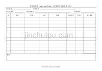 質量計劃控制表-027