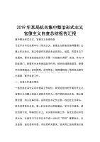 2019年某局機關集中整治形式主義官僚主義自查總結報告匯報