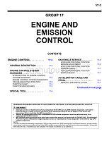 帕杰罗06英文版维修手册GR00001000-17