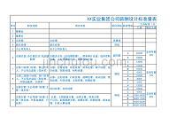 XX實業集團公司薪酬設計標準量表