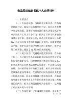 安监局党组副书记个人自评材料
