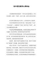 初中语文教学初中体.doc心得v初中图案黑板报大全图片