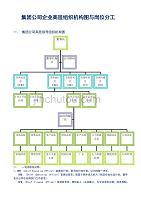 集團公司企業高層組織機構圖與崗位職責描述(崗位分工)