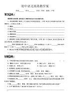 初中语文高效教学案(枣核)