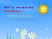 PEP人教版小学英语四年级下册《Unit 4 It's Warm Today》