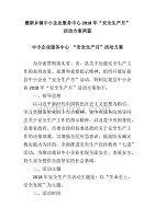 """最新乡镇中小企业服务中心2018年""""安全生产月""""活动方案两篇"""