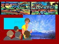 (人教新课标)三年级美术下册课件彩色玻璃窗3