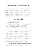 东府村安委会2010年工作总结汇报