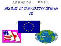公开课第23课_世界经济的区域集团化