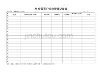 客户管理咨询服务记录表
