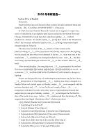 2010年考研英语一真题及参考答案解析