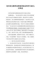 初中语文教学专题指导综合性学习的几点体.稿青春期初中生过程图片