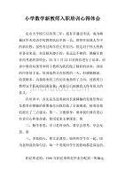 小学数学新教师入职培训心得体会.doc