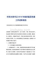村党支部书记2018年度抓基层党建工作述职报告